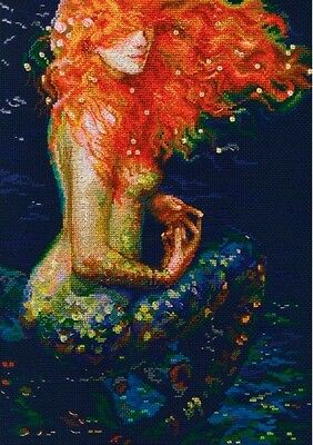 "Counted Cross Stitch Kit RTO M596 - ""Red mermaid"""