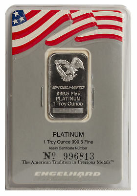 1oz Platinum Engelhard - Large Assay Card
