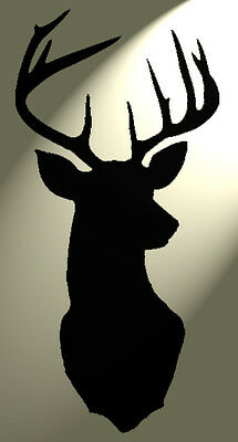 Shabby Chic Stencil Stag Deer Head Vintage A5 148x210mm Plastic wall sheet