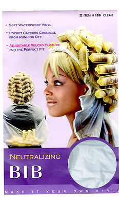 Qfitt Neutralizing Bib Soft Waterproof Vinyl Perm Adjustable Closure #199 Clear