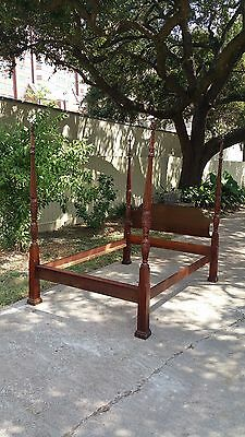 Traditional 4 Poster Plantation/Rice Queen Size Bed Frame