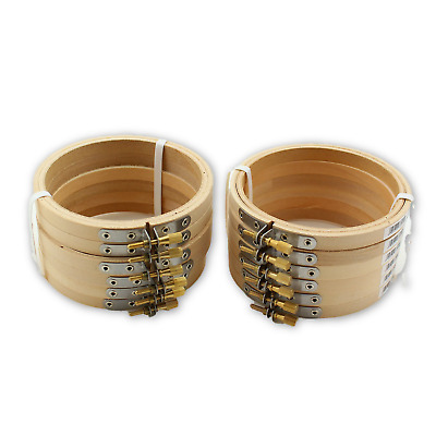 4 inch Small Round Wooden Embroidery Hoops Bulk Wholesale 12 Pieces Darice