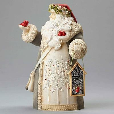 Heart of Christmas Karen Hahn Santa with Cardinals Figure