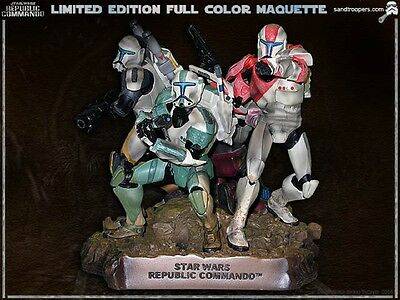 STAR WARS  EXCLUSIVE REPUBLIC COMMANDO COLOR STATUE MAQUETTE CLONES Exclusive