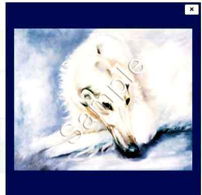 """BORZOI / RUSSIAN WOLFHOUND - Decorative/Refrigerator Magnet by Maystead / 2"""" x"""