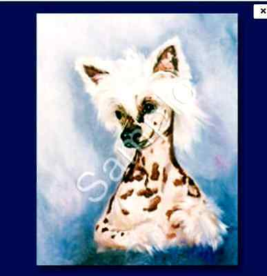 """CHINESE CRESTED - Decorative/Refrigerator Magnet by Maystead / 2"""" x"""