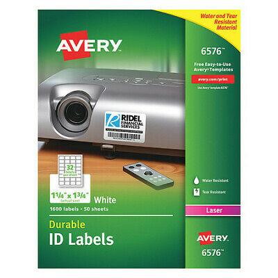 Avery Avery Identification Label for Laser Printers 6576, PK50, 6576