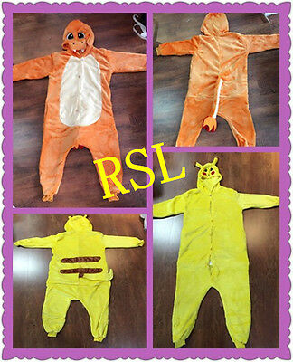 Charmander pikachu *Onesie Halloween Pokemon Pyjamas Kigurumi Cosplay Costume