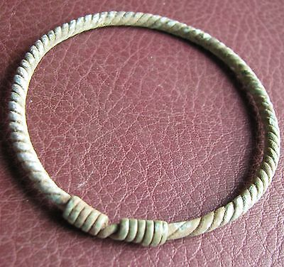 Authentic Ancient Lake Ladoga VIKING Artifact   Bronze Bracelet AA39