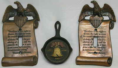 Thomas Jefferson Eagle Light Switch Covers & Cast Iron Liberty Bell Fry Pan