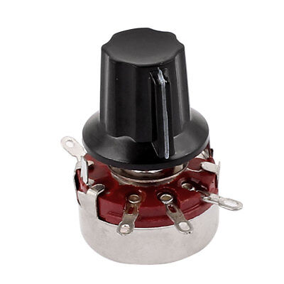 WTH118 Rotary Carbon Film Potentiometer 47K Ohm Adjustable Resistance w Cap
