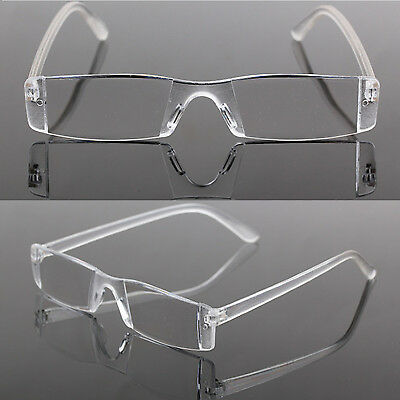 UP New Presbyopia 1.00-4.00 Diopter Eyeglasses Clear Rimless Reading Glasses