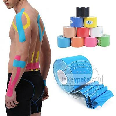UK Pre Cut Ares Tape Kinesiology Elastic Sports Muscles Support Tape Pain Relief