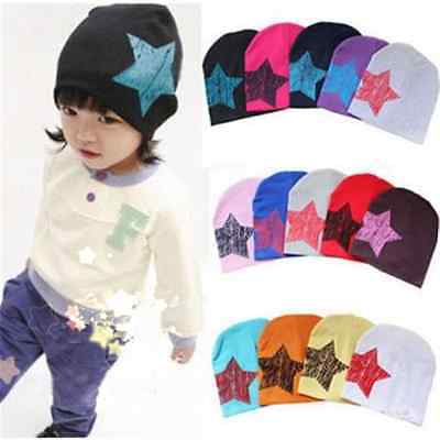 Cute Unisex Baby Boy Girl Kid Toddler Infant Children Cotton Cap Star Beanie Hat
