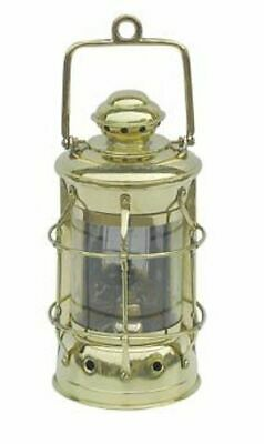 G4021: Nelson Lampe, Maritime Lampe, Petroleum Lampe, Schiffslaterne Messing