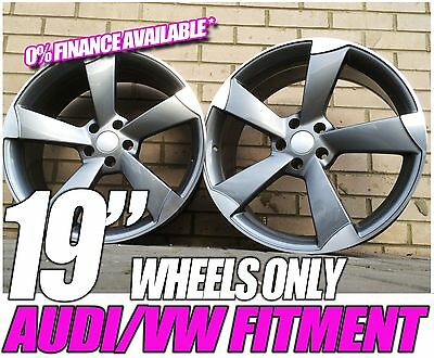 19 inch 4 New AUDI A5 TTRS Style GUNMETAL GLOSS ALLOY Wheel Gray-Ask For Tyre