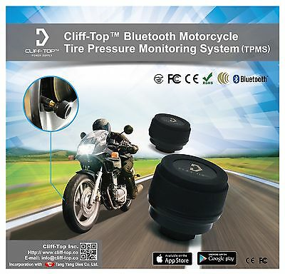 Cliff-Top®  Motorcycle Bluetooth TPMS (Tire Pressure Monitoring System)