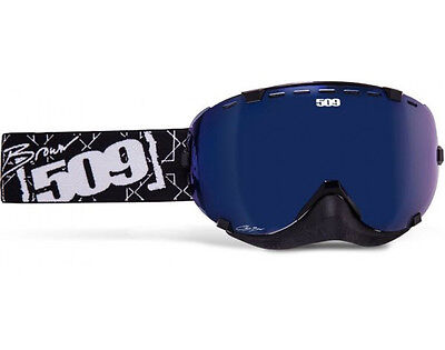 509 Chris Brown Aviator Goggle - Black / White - Blue Mirror / Blue Tint Lens