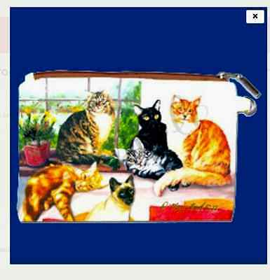 CATS #1  Zippered Pouch by Maystead / full color design both sides