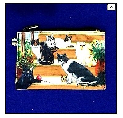 CATS #2  Zippered Pouch by Maystead / full color design both sides