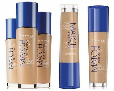 Rimmel Match Perfection SPF18 Foundation 30ml - All Shades