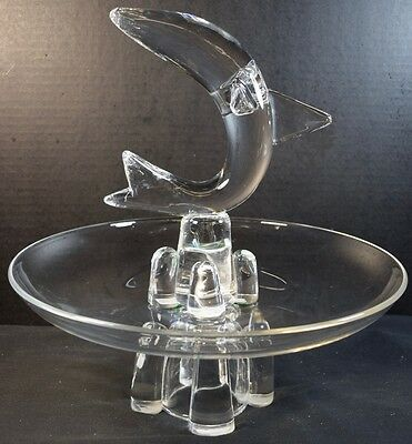 Vintage Steuben Centerpiece with Bowl and Dolphin