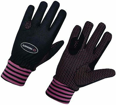 Ladies Winter Horse Riding Wind Resistance Thermal Equestrian Girl Pink Gloves