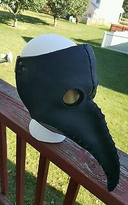 Black Plague Doctor Mask VERY NICE Halloween Mask IMPORT from UK 1 SIZE FITS ALL