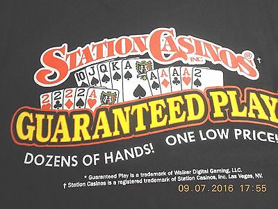 Boulder Station Casino-T-Shirt Men's Extra Large- Logo 7X11 Inches On Back !!