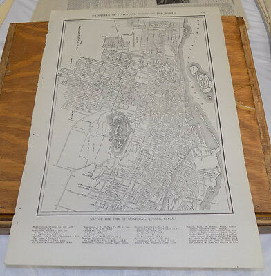 1912 Collier's City Map////MONTREAL, QUEBEC, CANADA