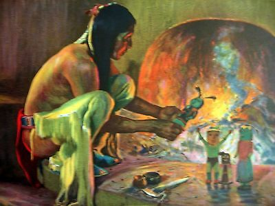 American Indian - 3 Wholesale Antique Lithographs - Circa 1925-1930 Near Mint