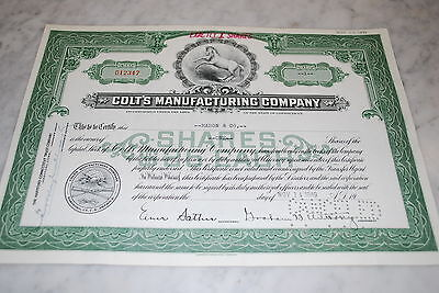 Stock Certificate - Colt'S Manufacturing Company – Connecticut 1949