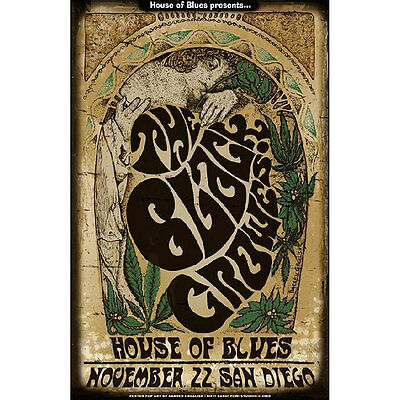 Black Crowes Poster New 11x17 Original Concert Handbill 2009 House of Blues