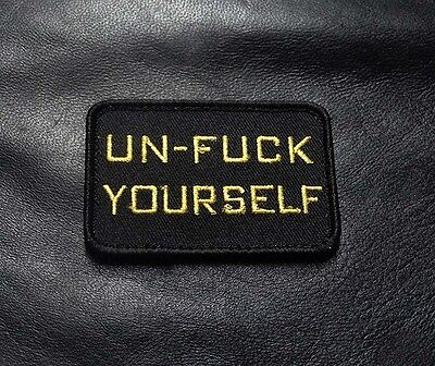 Un F**k Your Self Tactical Morale 3 Inch Milspec Army Hook  Patch (Ylw)