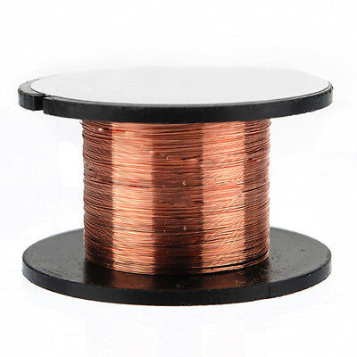 5X(15m 0.1MM Copper Soldering Solder Enamelled Reel Wire Roll Connecting DM)