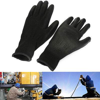 1 Pair PU Palm Coated Coating Protective Safety Anti Static Work Gloves Builders