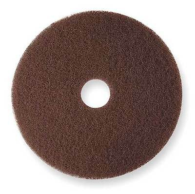 3M 7100 Stripping Pad, 19 In, Brown, PK 5