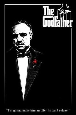 (Laminated) The Godfather Movie Red Rose Poster (61X91Cm) New Wall Art