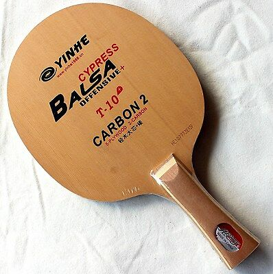 Galaxy/YinHe T-10+ Table Tennis Blade, Balsa Cypress Carbon2, OFF+, UK