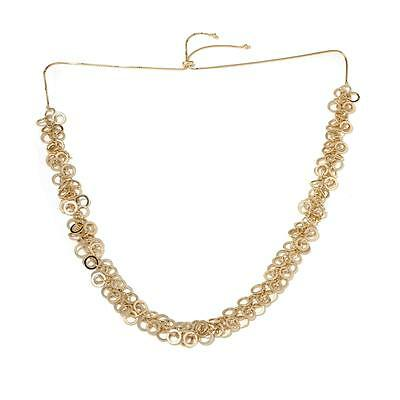 Technibond Adjustable Byzantine Chain Necklace 14K Yellow Gold Clad Silver HSN