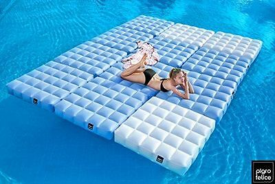 Pigro Felice Modul'Air Luxe Base Gonflable PVC Blanc Mat 117 x 117 x 24 NEUF