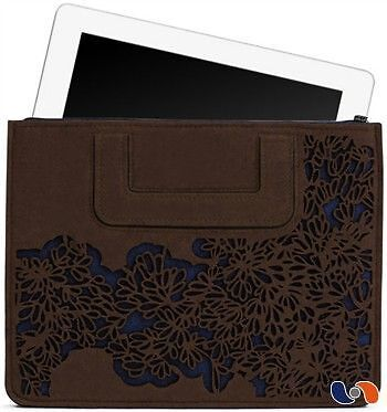 "iPad Carrying Sleeve BOSIGN – Pochette pour iPad ""Bloom"" marron/bleu NEUF"