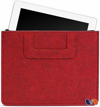 "iPad Carrying Sleeve BOSIGN – Pochette pour iPad ""Solid"" rouge  NEUF"