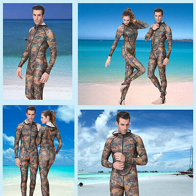 Camouflage Surf Freedive Men Women Swimwear Wetsuit Diving Skin Suit Rashguard W