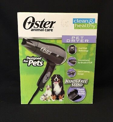 Oster Pet Dryer Dog Animal Veterinarian Cool Shot Button & Hands Free Stand New