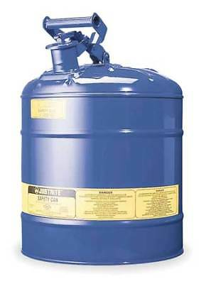 JUSTRITE 7150300 Type I Safety Can, 5 gal., Blue, 16-7/8In H