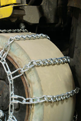 Titan Snow Link Tire Chains Round Twist 4-Link Spacing for Forklift fits 25x8.50