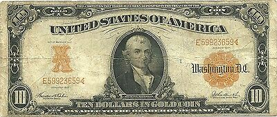 1907 $10 Large Size Gold Certificate - F-1172 - Hillegas - Nice Collector Grade