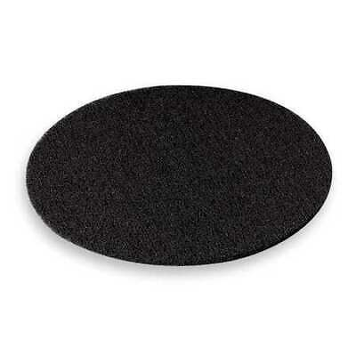 3M 7300 Stripping Pad, 19 In, Black, PK 5