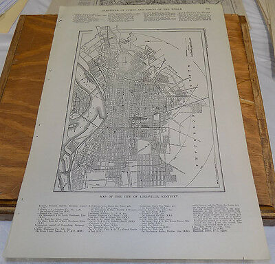 1912 Collier's City Map////LOUISVILLE, KENTUCKY